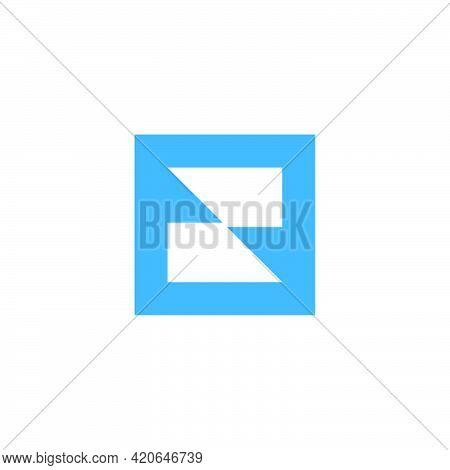 Letter Zr Square Geometric Logo Vector Unique Unusual Fashion Design Concept Best For Brand Identity
