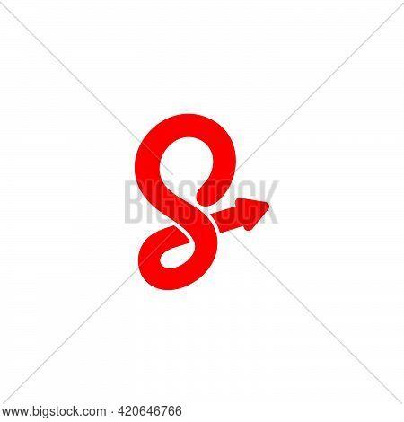 Letter S Motion Spiral Motion Arrow Logo Vector