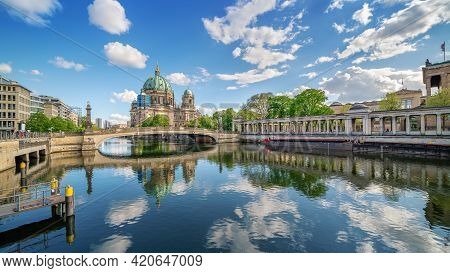 Panoramic View At The Famous Berlin Cathedral