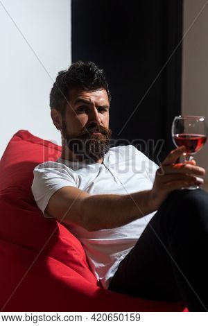 Man In Depression Drinking Wine. Alcohol Addiction. Home Alone Drunk Party. Bad Habits. Alcohol Depe