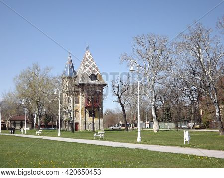 Subotica, Serbia - April 13, 2013: Park On Palic Lake On A Sunny Day In The Spring.