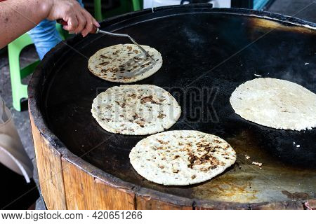 Tacos, Typical Mexican Street Food. Tasty Mexican Tacos.
