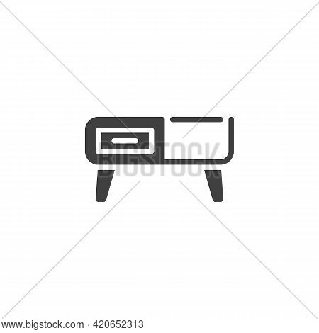 Retro Sideboard Vector Icon. Filled Flat Sign For Mobile Concept And Web Design. Vintage Cupboard Gl