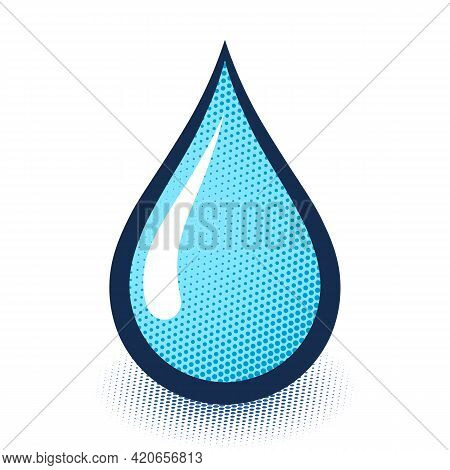Rain Drop Or Water Droplet Icon. Vector Illustration On A White Background