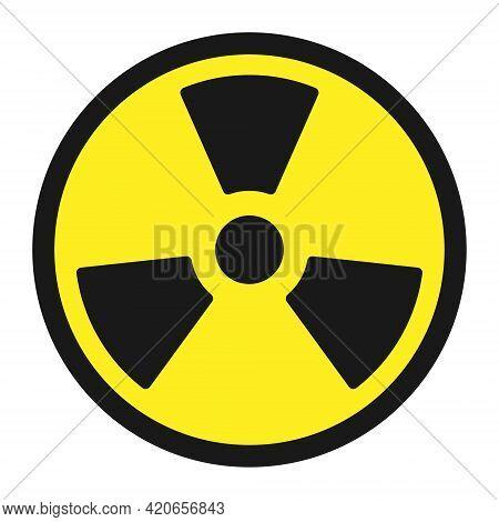 Radioactive Symbol Icon. Nuclear Radiation Warning Sign. Atomic Energy Logo Label. Vector Illustrati