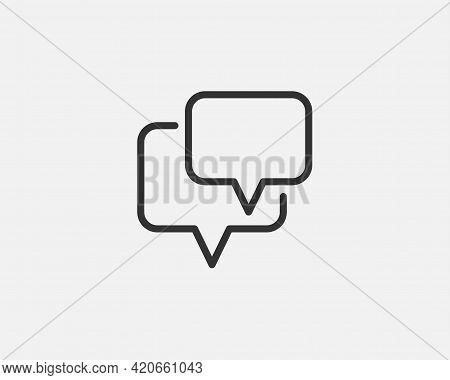 Chat Icon Vector Design Element. Talk Bubble Speech Sign. Dialogue Balloon For Mobile App Or Web Sit