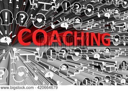 Coaching Concept Blurred Background 3d Render Illustration