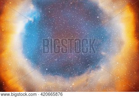 Nebula In Space. Starry Sky. Astronomy And Universe. Cosmic Background