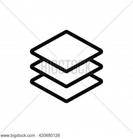 Layers Icon Isolated On White Background. Layers Icon In Trendy Design Style For Web Site And Mobile