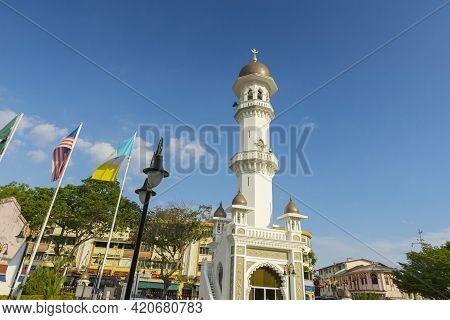 Penang, Malaysia - February 14,2019 : Kapitan Keling Mosque In Penang, Malaysia On February 14,2019.