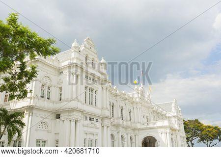 Penang, Malaysia - February 13,2019 : Old Colonial Building Of Penang Mbpp Town Hall In Penang, Mala
