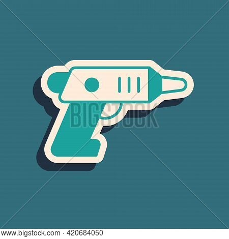 Green Electric Cordless Screwdriver Icon Isolated On Green Background. Electric Drill Machine. Repai