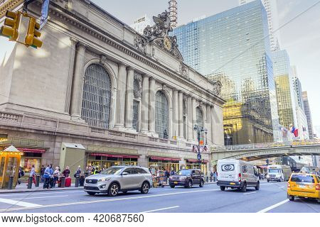 New York, Usa - April 26,2018 : The Grand Central Terminal In Midtown Manhattan In New York,usa On A