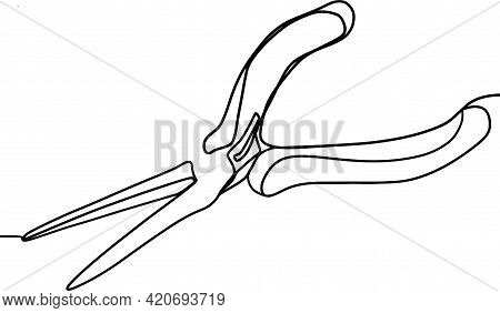 Hand Tools For Different Types Of Material. Pliers, Articulated Tool. Pliers For Craftsmen Tool On A