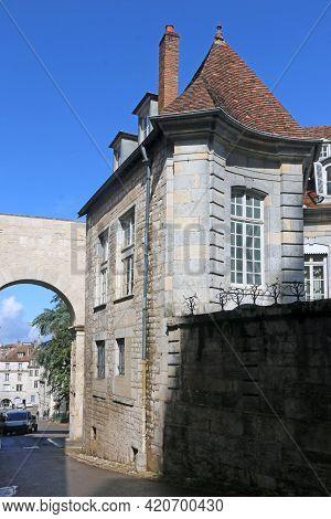 Historic Gateway Arch In Besancon In France