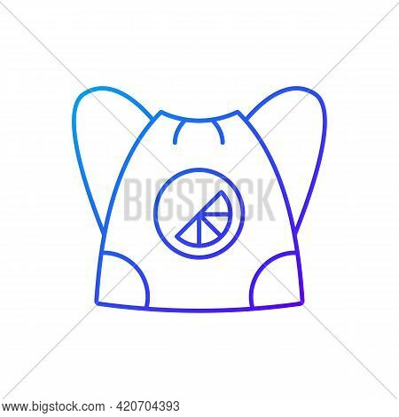 Branded Sling Bag Gradient Linear Vector Icon. Fashionable Accessories To Carry On Back. Beautiful L