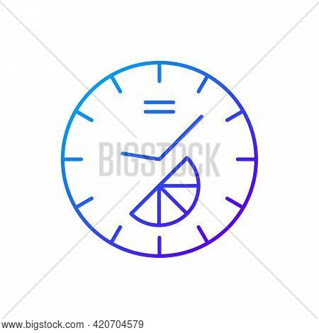 Branded Clock Gradient Linear Vector Icon. Modern Designed House Decor. Make Home Look Stylish And M