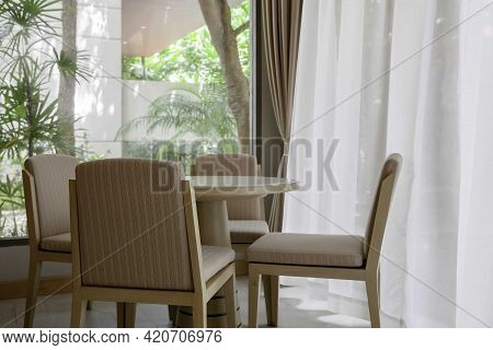 Dining Table For Four In An Elegant Home Dining Room