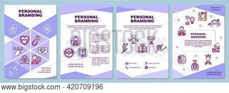 Personal Branding Brochure Template. Public Authority. Flyer, Booklet, Leaflet Print, Cover Design W