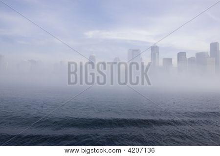 Seattle Skyline In The Fog