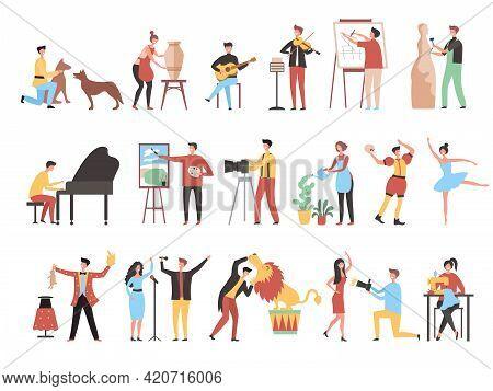 Creative Occupation. Art Work Hobbies Freelance Artistic Characters Decorator Painters Artists Photo