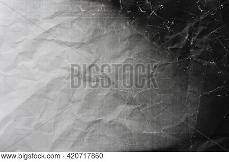 Photocopy Crumpled Paper Texture And Background, Close Up
