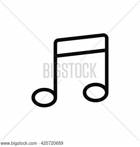 Musical Note Icon Isolated On White Background. Musical Note Icon In Trendy Design Style For Web Sit