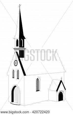 Catholic Church Black And White