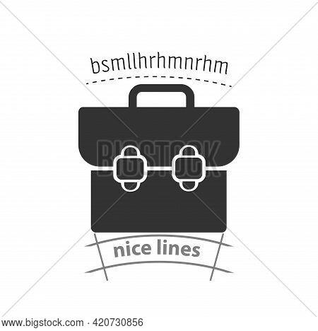 Briefcase Simple Vector Icon. Briefcase Isolated Icon