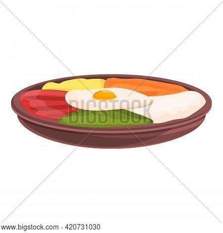 Egg Korean Food Icon. Cartoon Of Egg Korean Food Vector Icon For Web Design Isolated On White Backgr