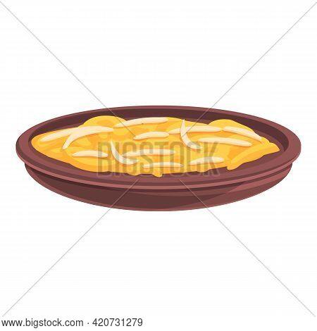Korean Salad Icon. Cartoon Of Korean Salad Vector Icon For Web Design Isolated On White Background