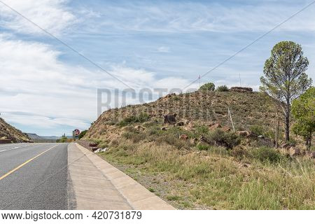 A British Fort Is Visible On Flag Hill, Also Called Vegkop, Next To Road N1 In Richmond In The North