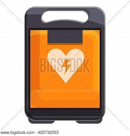 Patient Defibrillator Icon. Cartoon Of Patient Defibrillator Vector Icon For Web Design Isolated On