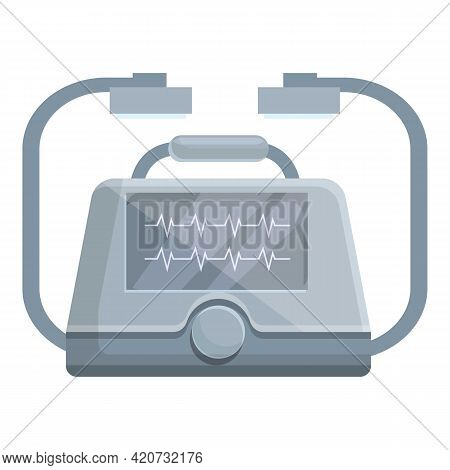 Cardiovascular Defibrillator Icon. Cartoon Of Cardiovascular Defibrillator Vector Icon For Web Desig