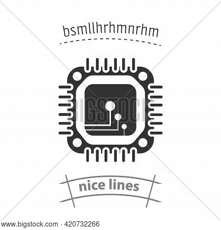 Cpu Simple Vector Icon. Cpu Chip Isolated Icon