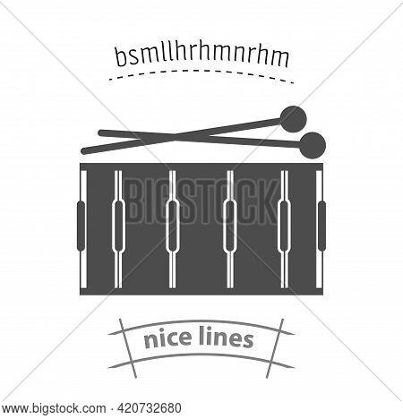 Drum Simple Vector Icon. Drum Isolated Icon