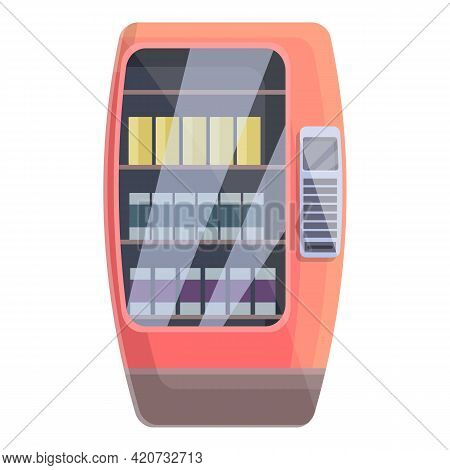 Automate Drink Machine Icon. Cartoon Of Automate Drink Machine Vector Icon For Web Design Isolated O