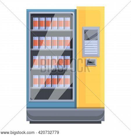 University Drink Machine Icon. Cartoon Of University Drink Machine Vector Icon For Web Design Isolat