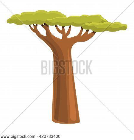Savanna Baobab Icon. Cartoon Of Savanna Baobab Vector Icon For Web Design Isolated On White Backgrou