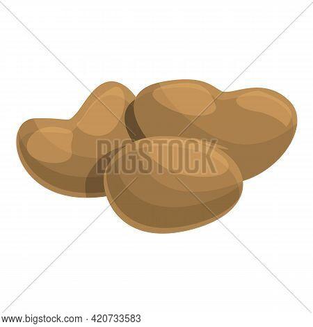 Raw Baobab Fruit Icon. Cartoon Of Raw Baobab Fruit Vector Icon For Web Design Isolated On White Back