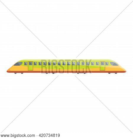 High Speed Subway Icon. Cartoon Of High Speed Subway Vector Icon For Web Design Isolated On White Ba