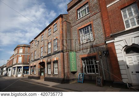 The Lamb Arcade And Other Buildings In Wallingford, Oxfordshire In The Uk, Taken On The 30th March 2