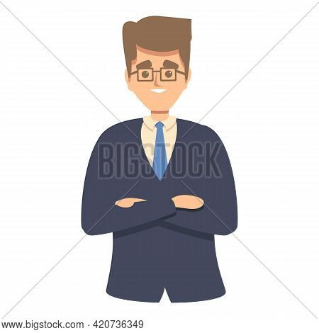 Colleague Businessman Icon. Cartoon Of Colleague Businessman Vector Icon For Web Design Isolated On