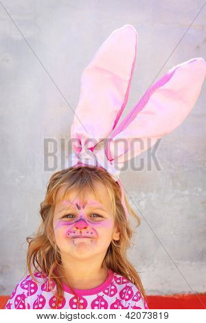 Child Facepaint Easter Bunny