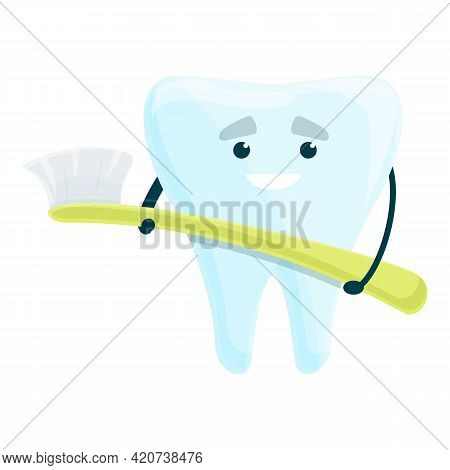 Teeth Whitening Toothbrush Icon. Cartoon Of Teeth Whitening Toothbrush Vector Icon For Web Design Is