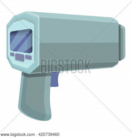 Speed Radar Car Icon. Cartoon Of Speed Radar Car Vector Icon For Web Design Isolated On White Backgr