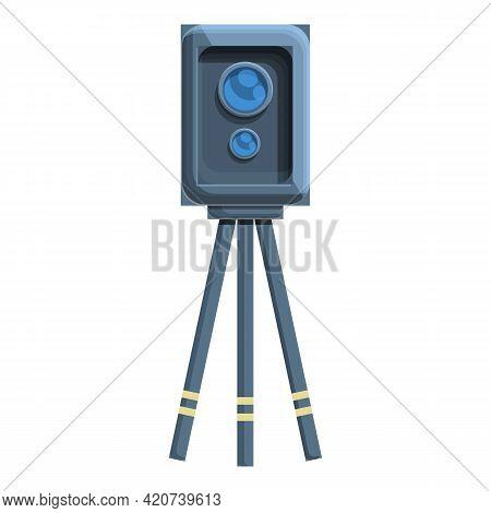 Speed Radar Tripod Icon. Cartoon Of Speed Radar Tripod Vector Icon For Web Design Isolated On White