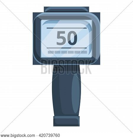 Speed Radar Cam Icon. Cartoon Of Speed Radar Cam Vector Icon For Web Design Isolated On White Backgr