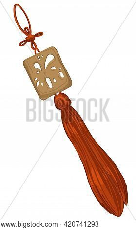 Japanese Amulet For Luck, Asian Culture Object