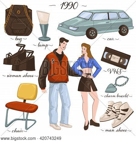 Fashion And Clothes, Furniture And Objects Of 90s